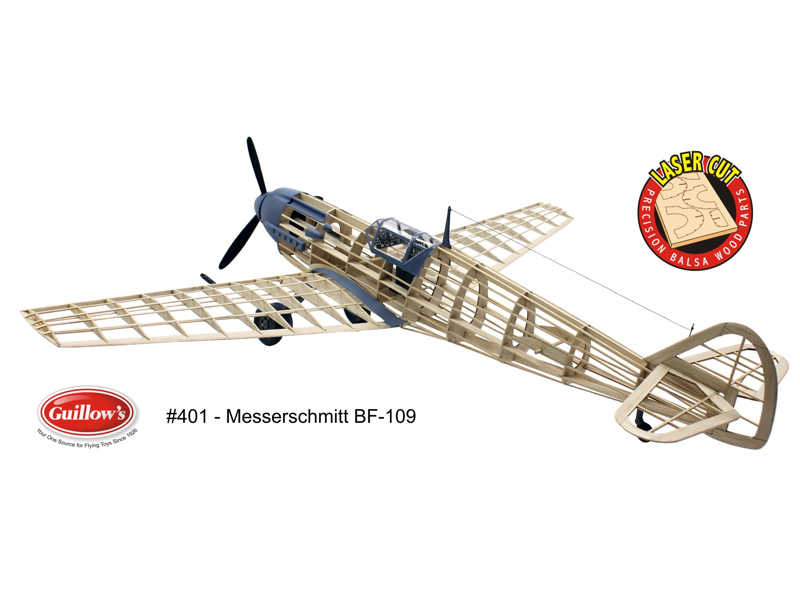 Guillow's ME-401 Laser Cut Wood Airplane Kit