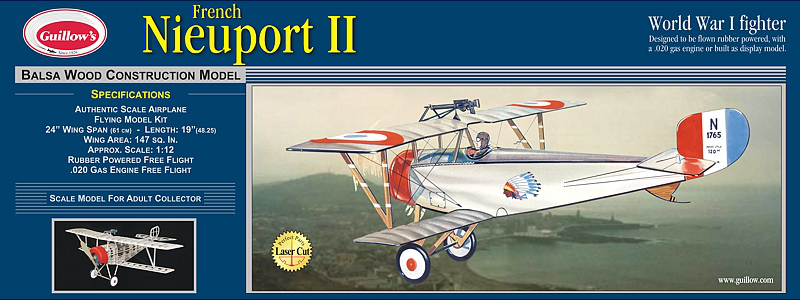 Guillows Nieuport II Wood Airplane Kit