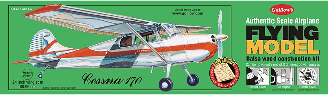 Guillows Cessna 170 Wood Airplane Kit